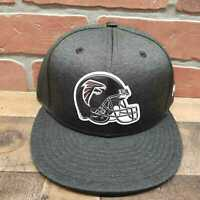 Men's New Era 9Fifty Atlanta Falcons NFL Black Snapback Cap Sz M/L