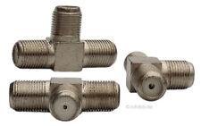 Sat Antennen-T-Stück F Verteiler Antenne Kabelverbindung, Kupplung, Metall #458