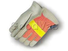 Majestic 1951 Highly Visible Reflective Cowhide Leather Winter Work Gloves XXL