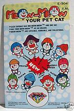 Meow Pet Cat Gumball Vending Machine Card Old Stock
