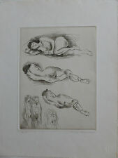 Nudes by Raphael Soyer - Hand Signed and Numbered Limited Edition Etching