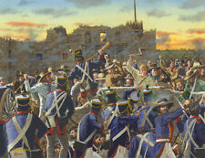 THE ALAMO: THE BATTLE AT THE LOW WALL ART PRINT