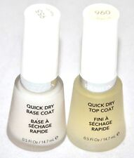 New Set Revlon Quick Dry Base Coat #955 + Top Coat #960 - 0.5 fl oz / 14.7 ml