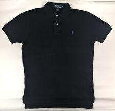 POLO RALPH LAUREN Mens Polo Shirt Black 100% Cotton - Size Medium M