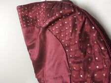 """New Earl & Wilson Red sequince tree skirt 46"""" christmas decorarion"""