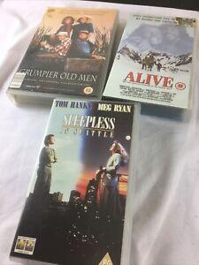 VHS Bundle - Grumpier Old Men / Alive / Sleepless in Seatle
