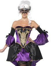 Sexy Purple Midnight Burlesque Masquerade Ball Halloween Costume Womens