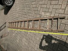 Extension Ladder Wooden Antique.  About 100 Years old. 3.6 M painted. No rope.