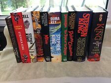 Lot Of 10 Stephen King Horror Novels Books, All Hardcovers with Dust-Jackets