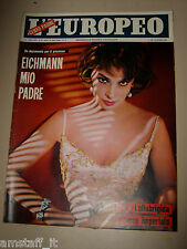 EUROPEO=1961/16=GINA LOLLOBRIGIDA COVER MAGAZINE=RINA MORELLI=SIMIONATO G.=