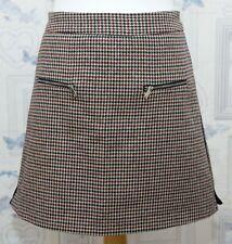 Zara Houndstooth Mini Skirt Size M Lined