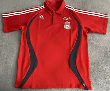 LIVERPOOL FC ADIDAS LFC 2006/2007 POLO SHIRT RED MENS LARGE