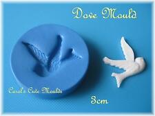 CAKE DECORATING:  DETAILED DOVE/LOVE BIRD SILICONE MOULD CAKE/CUPCAKE TOPPERS