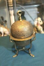 Antique Islamic bronze spice box tower,hammered & openwork,end 19th century.