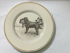 Vintage Hunting Dog Plate Lenox Golden Retriever by Richard Bishop circa 1936
