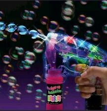 LED Bubble Gun With Sound Flashing Light Up Bubbles Blaster Squirt Blower Favors
