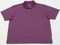 PGA Tour Polo Shirt XXL 2XL Burgundy Red & White Short Sleeve Men's Man's Top