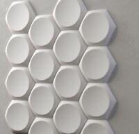 *SEGMENT* 3D Decorative Wall Panels Set of 5 pcs ABS Plastic mold for Plaster