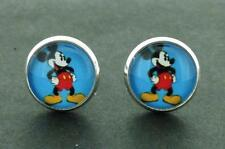 "Mickey Mouse Cufflinks 14 MM Show ""Who's The Leader Of The Gang?"""