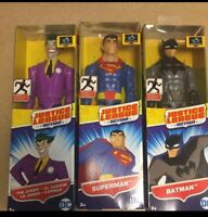 "Mattel DC Justice League 12"" Inch Set With Superman, Joker And Batman Action Fig"