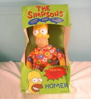 The Simpsons Homer Says Plush Talking Toy, Vivid, 1997, Never Removed From Box