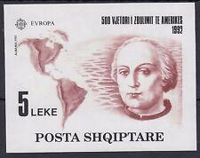 ALBANIA Albanien 1992 Columbus Souvenir sheet Europe CEPT Europa - MNH**