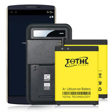 Tqthl 2x 3300mAh Replacement Slim Battery + Wall Charger For Lg V10 Vs990 / H901