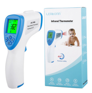 Digital Infrared Thermometer Forehead Non-contact Baby Adult Thermometer w/LCD