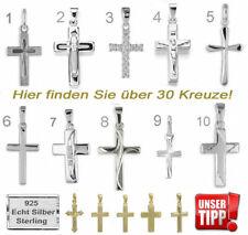 Kreuz Anhänger Silber 925 Damen Herren Kinder Christlicher Echt Schmuck Neu 💎