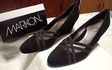 Markon Quarry Comfortables High Heel Wedge Women's Shoes Black Suede Size 7 M