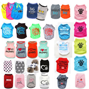 Various Pets Puppy Small Dogs Cat Apparel Summer Clothes Pattern Vest T-shirt