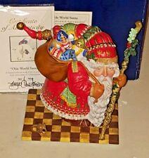 James Christensen Old World Santa Porcelain #720/950 Signed and Signed COA
