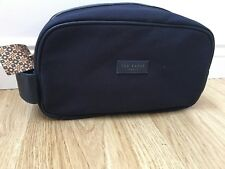Ted Baker Mens Wash Bag Weekend sports Bag Navy Canvas New
