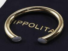 IPPOLITA ROCK CANDY POLISHED 18K YELLOW GOLD MOP CABOCHON CUFF BANGLE BRACELET