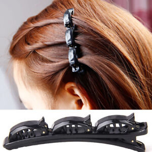 Double Bangs Hairstyle Hair Clips Bangs Hair Band Hairpin with Clips Black Brown
