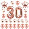 Happy Rose Confetti Pc Set 24 Ballon Decoration Balloon Party Gold Birthday Foil
