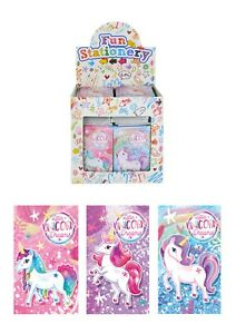Unicorn Notepads Notebooks Girls Kids Childrens Party Loot Bag Fillers Favours