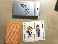 VINTAGE Lufthansa Airlines Playing Cards. Silver Box, Orange Cards. Complete