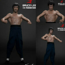"6"" Bruce Lee Action Figure Collector Model Bat Muscle 1/12 Statue Decor Gift Toy"