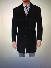 Kenneth Cole Reaction Men's Black Raburn Slim-Fit Wool-Blend Over Coat, Size 40R