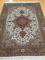 "5' x 6'8"" New Fine Turkish Oriental Rug - Wool and Silk Pile - Hand Made"