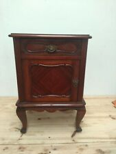 Vintage wood Queen Anne Nightstand Bedside End table + offer 1 Enameled Bedpan