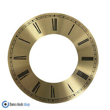 New Metal Gold Chapter Clock Dial Ring - 200mm Outer Ring - Black Roman Numbers