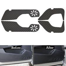4xCarbon Fiber Style Car Door Side Anti-Kick Sticker Trim For Honda Accord 14-17