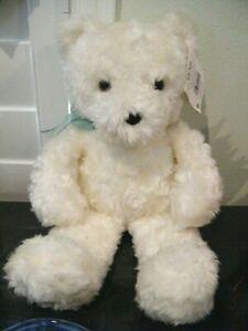 "GUND 16""  PLUSH FLUFFY WHITE TEDDY BEAR LOOKING FOR NEW LOVIN' HOME"