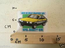 STICKER,DECAL OPEL KADETT OPEL KADETT GT/E RACE EN RALLY KAMPIOEN 1976 AUTO CAR