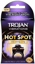 Trojan Vibrations Hot Spot Vibrating Ring & 1 Latex Condom (3 Pack)