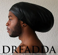 Dread Swim Cap Hat XL Extra Large Black Dreadlocks Rasta Weaves Extensions