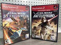 Star Wars Star Fighter & Battlefront II PlayStation 2 PS2 Lucas Arts Games