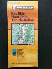 CARTE MICHELIN N° 315 LOCAL  Bas-Rhin, Haut-Rhin,Territoire Belfort 2003 TB ETAT